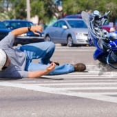 バイク右直事故