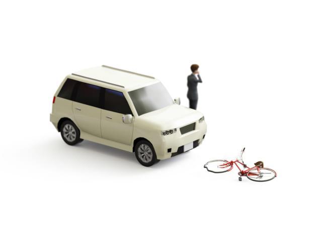 車と自転車のトラブル
