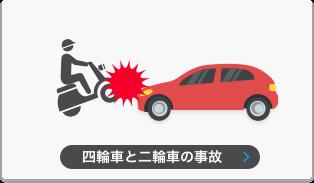 自動車とバイクの事故